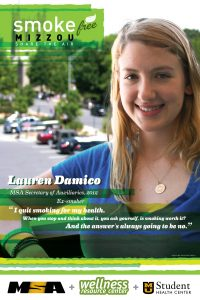 Posters encouraging smoking cessation were spread throughout campus.